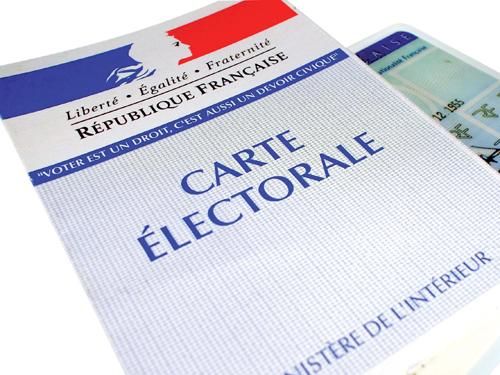 Inscription sur les listes électorales.