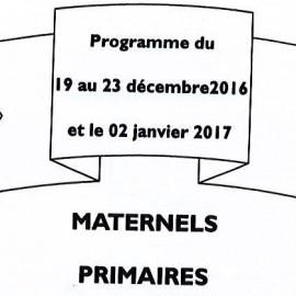 Les Chambouletous : Programme des vacances de Noël.