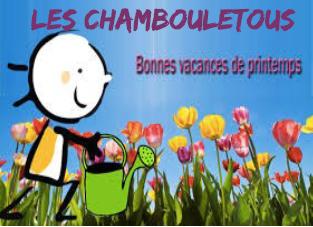 Programme des vacances de printemps avec les chambouletous