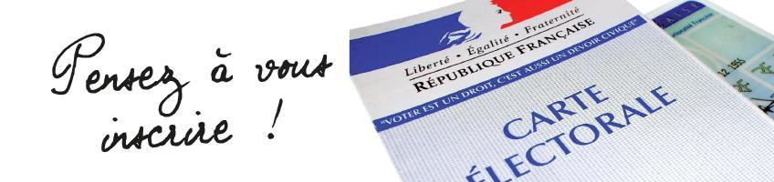 Permanence «Inscription listes électorales» le samedi 30 /12 de 10h à 12h en mairie