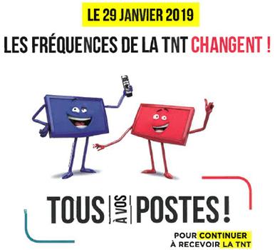 Changement des fréquences de la TNT le 29 janvier 2019