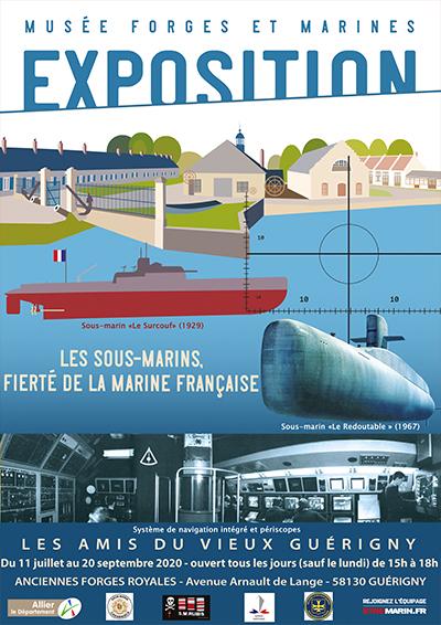 GUERIGNY:EXPOSITION 2020 Les sous-marins, fierté de la Marine française
