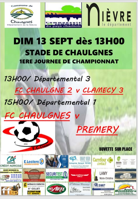 1ère JOURNEE DE CHAMPIONNAT de FOOTBALL