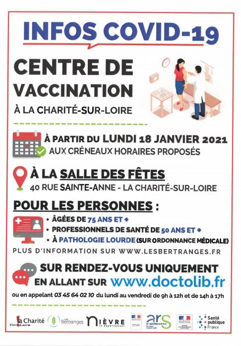 Ouverture d'un Centre de Vaccination à la Charité-sur-Loire