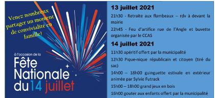 Festivités du 14 Juillet !