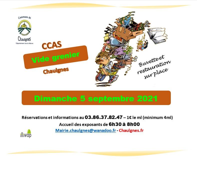 Vide grenier du CCAS à Chaulgnes